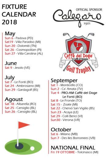Fixture Calendar Golf Trophy